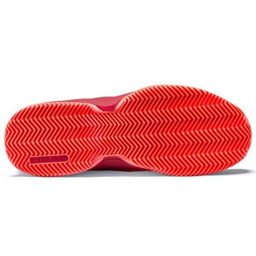 Zapatillas Head Revolt Pro Clay Red Suela
