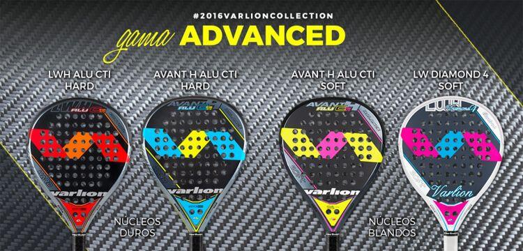 Gama Advanced 2016 de palas Varlion