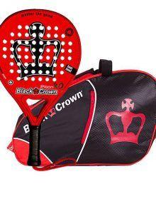 Pack Black Crown Pala Piton 4.0 + Paletero Sun Rojo-Negro