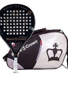 Pack Black Crown Pala Piton + Paletero Sun Plata-Negro