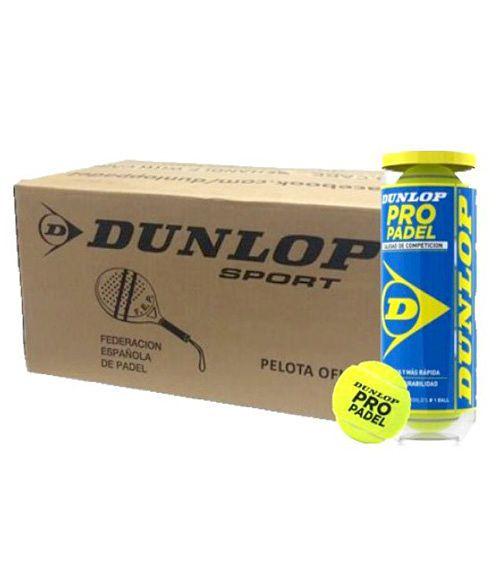 Cajón 24 Botes Pelotas Dunlop Pro Padel