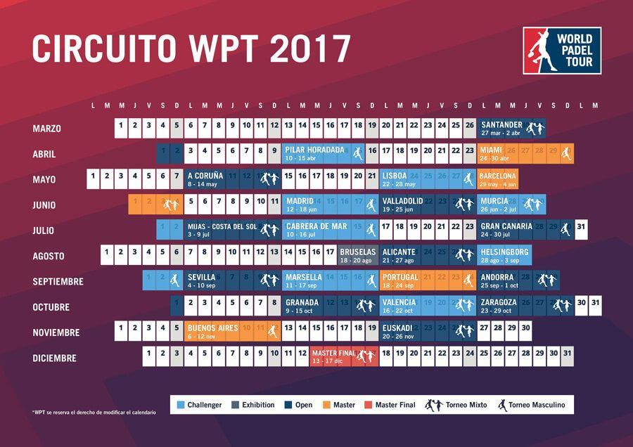 Calendario WPT 2017