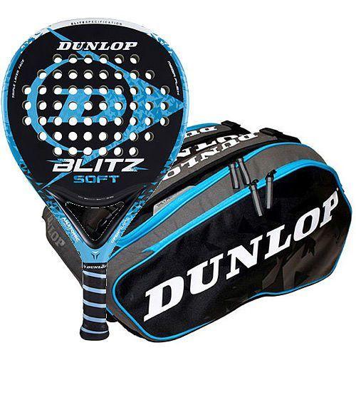Pack Dunlop Pala Blitz Soft + Paletero Elite Azul