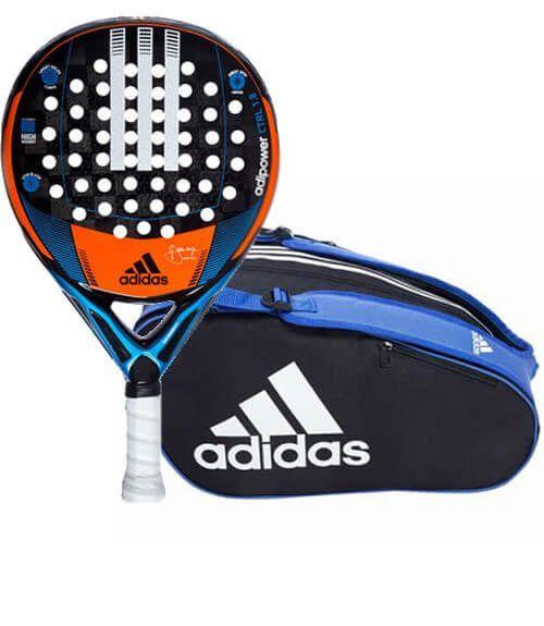Pala Adipower Control + Paletero Control Blue Adidas