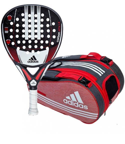 Pala Carbon Attack + Paletero Supernova Red Adidas