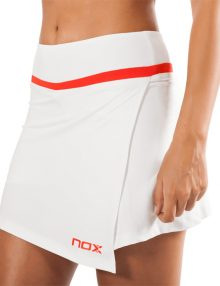Falda Nox Team Blanca-Roja