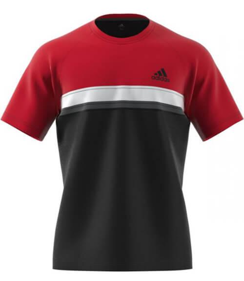 Amanecer Margarita capacidad  Camiseta Adidas Club color Rojo y Negro - Gran colección de textil Adidas