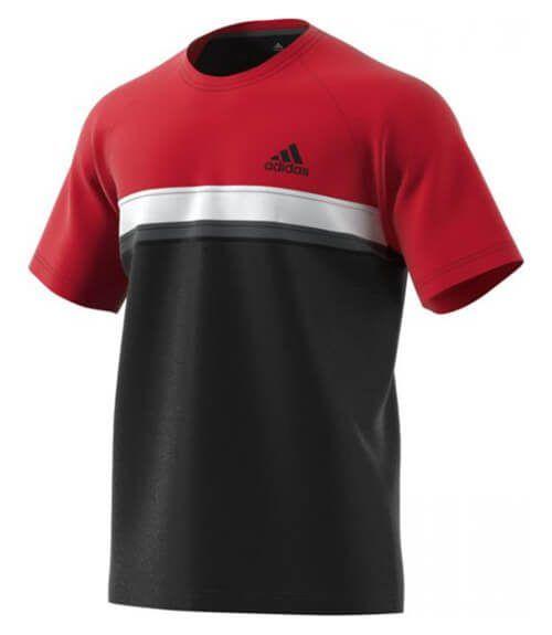 Camiseta Adidas Club Roja-Negra