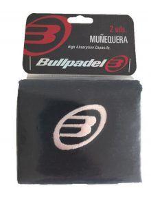 Muñequera Bullpadel Blanco-Negro