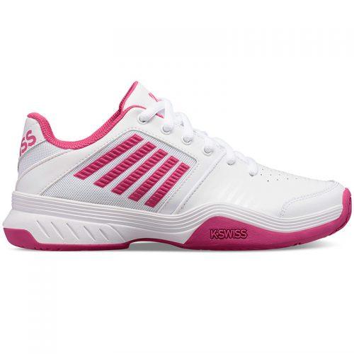 Zapatillas Court Express blanca-rosa de K-Swiss