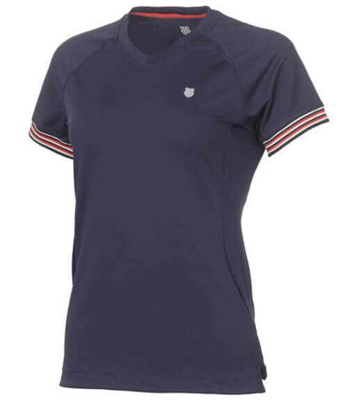 4ed08c3f534 Camiseta K-Swiss Heritage S/S en color azul y para mujer - Textil KSwiss