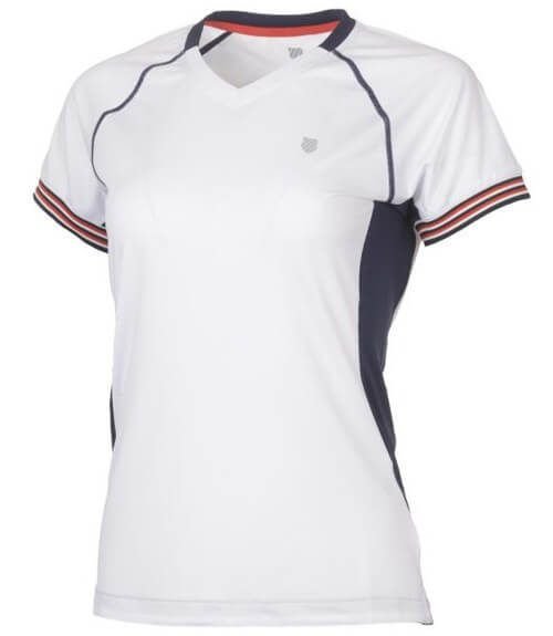 Camiseta K-Swiss Heritage Blanco Mujer