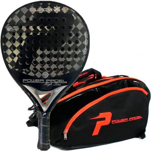 Pack Power Padel Black X + Paletero
