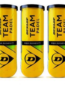 3 botes de pelotas Dunlop Team Padel