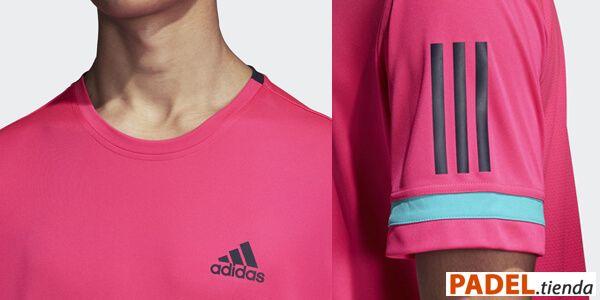 Detalle Camiseta Adidas Club Rosa