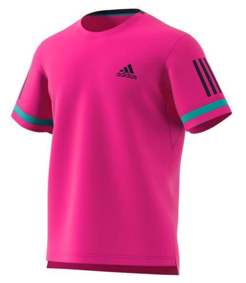 Camiseta Adidas Club 3 bandas en color rosa - ¡La más llamativa del año! e23871ccf2011