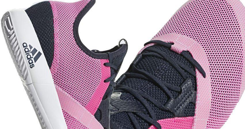 Zapatillas Adidas Adizero Defiant Bounce Woman Rosa Detalle