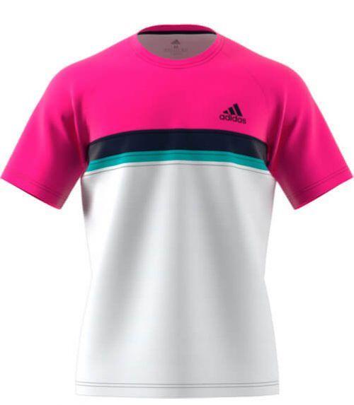 Camiseta Club rosa-blanca de Adidas