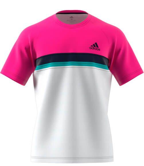 Aclarar asqueroso Matemático  Camiseta Adidas Club Rosa y Blanca - PADEL.tienda