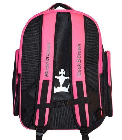 Mochila Black Crown Pink
