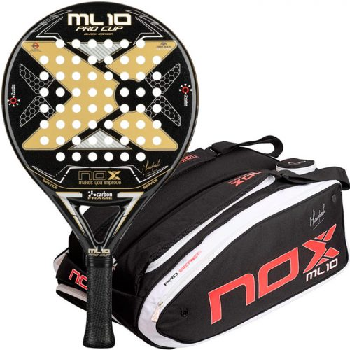 Pala Nox ML10 Pro Cup Black + Paletero