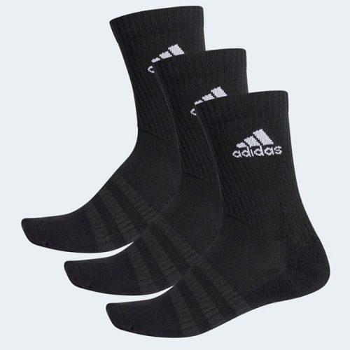 Calcetines Adidas Largos Negros - Pack 3