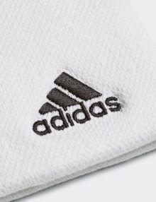 Muñequera Adidas Blanca Grande Logo