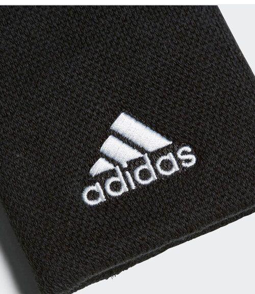 Muñequera Adidas Negra Grande Logo