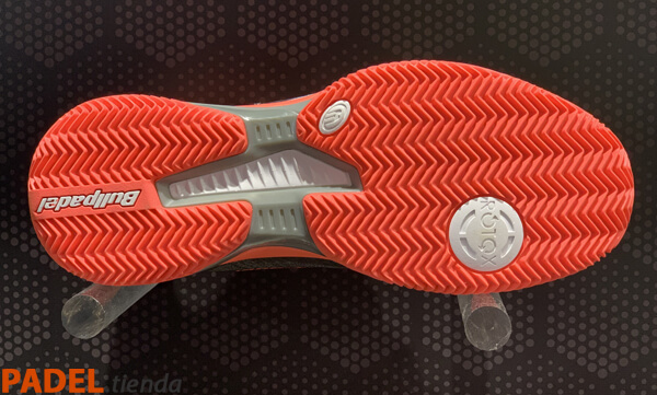 Zapatillas Bullpadel Hack Knit Gris Oscuro-Naranja 19