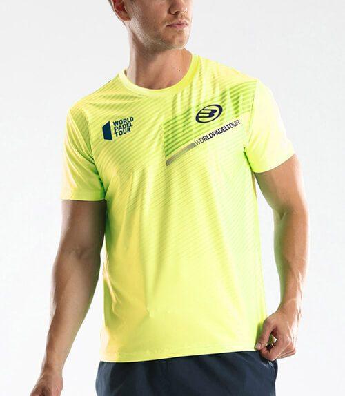 Camiseta Bullpadel Tefilo Amarillo Limon