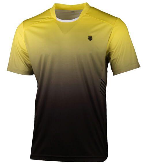 Camiseta KSwiss Hypercourt Express Crew Amarilla