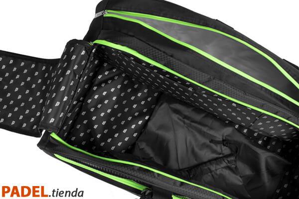 Detalle Paletero Prince Tour Negro-Verde