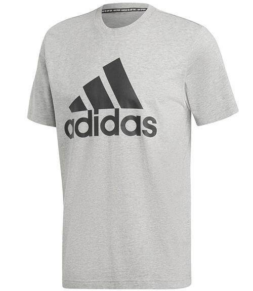 División sistemático Preciso  Camiseta de algodón Adidas - Gris con logo Adidas en negro