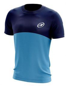 Camiseta Bullpadel Benamariel Azul Marino-Cyan