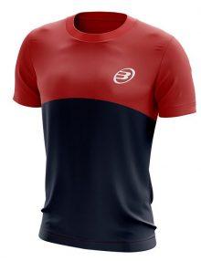 Camiseta Bullpadel Benamariel Rojo-Azul Marino