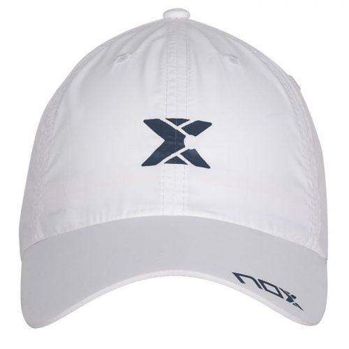 Gorra NOX Blanca Logo Azul 2020
