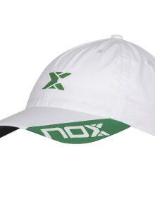 Gorra NOX Blanca Logo Verde