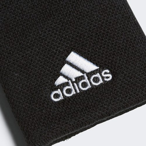 Muñequeras Adidas Negras Grandes Detalle