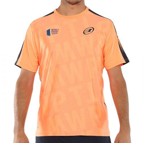 Camiseta Bullpadel Vegachi Naranja Fluor