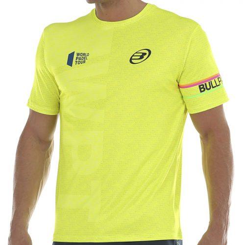 Camiseta Bullpadel Salbur Amarilla