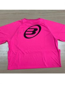 Camiseta Bullpadel Presente Rosa Flúor