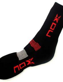 Calcetines Nox Negros-Rojos