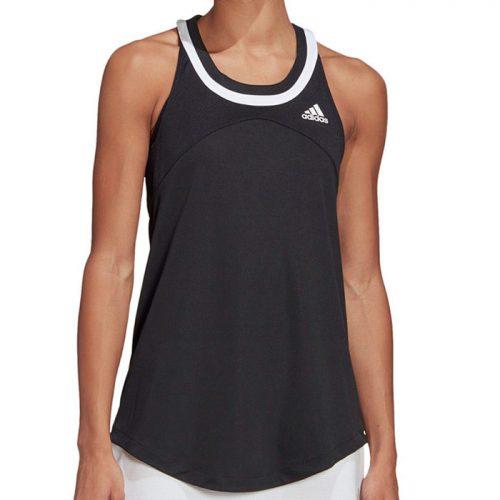 Camiseta Tirantes Adidas Club Negra Mujer 21