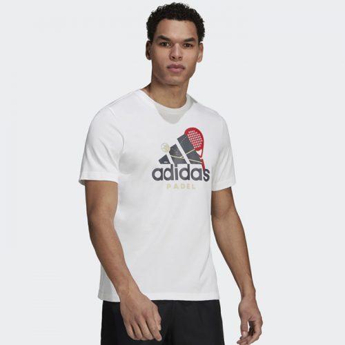 Camiseta Adidas Padel Cat Blanca 21
