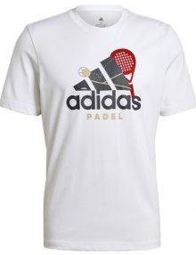 Camiseta Adidas Padel Cat Blanca