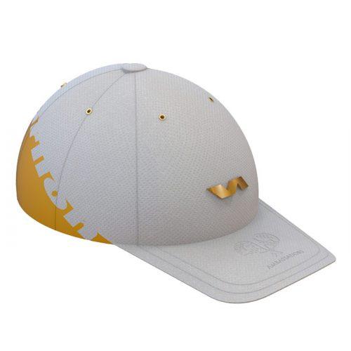 Gorra Varlion Summum blanco dorado