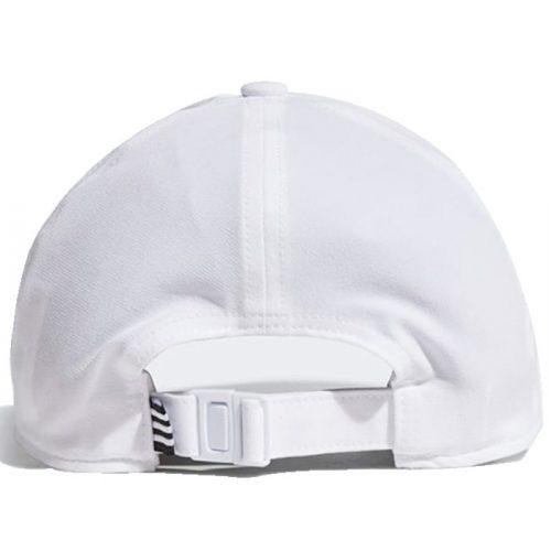 Gorra Adidas Baseball Aeroready 3 bandas blanco
