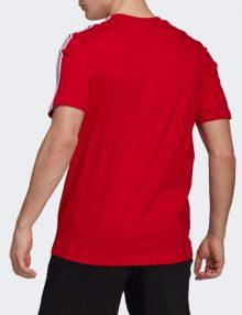 camiseta adidas 3 bandas red