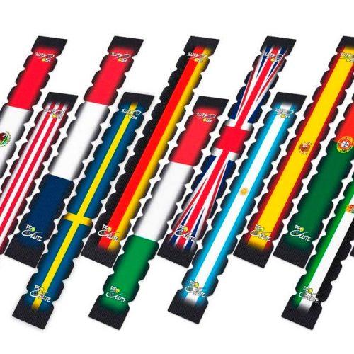 Protector dentados con bandera de países