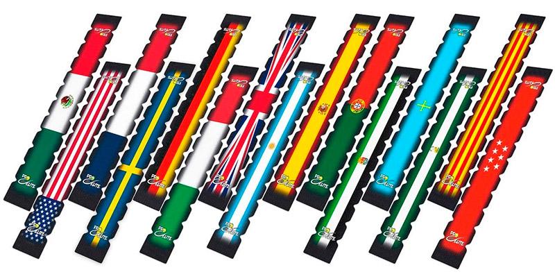 Protectores dentados banderas países